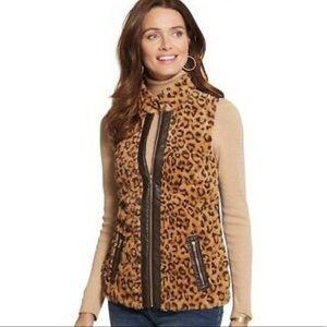 Chico's cheetah animal print vest